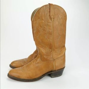 Acme Mens Brown Leather Western Cowboy Boots